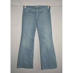 7 FOR ALL MANKIND Blue Low Rise Ginger Flare Jean